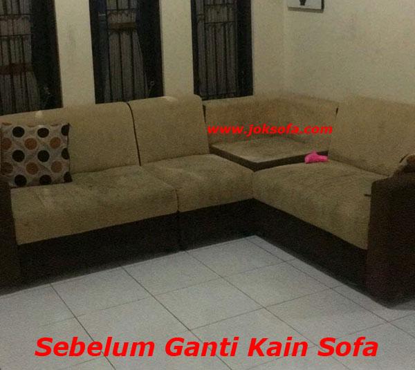 Sebelum Ganti kain sofa