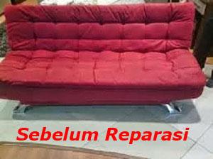 sebelum reparasi sofa bed
