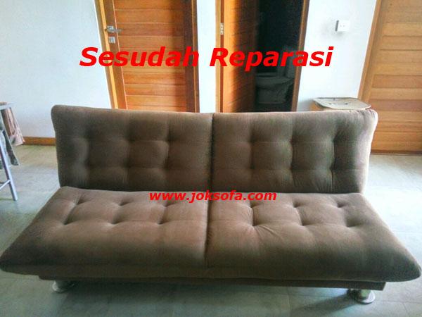 sesudah reparasi sofa bed